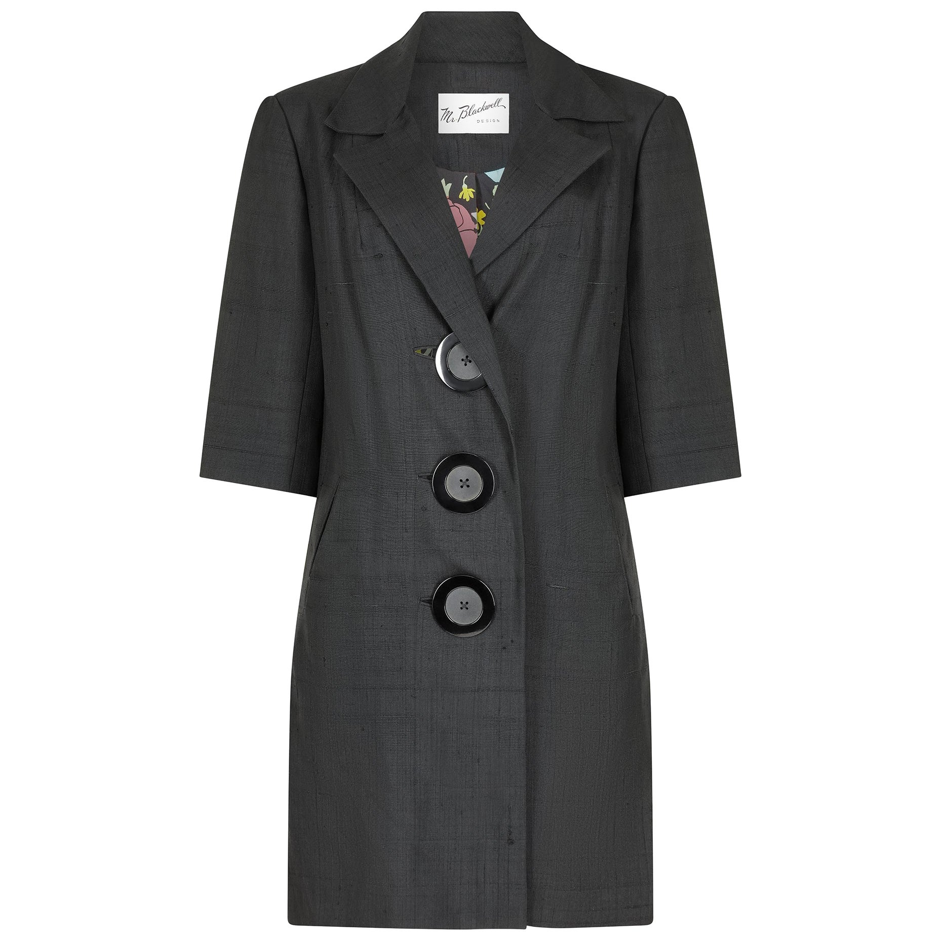 1960s Mr Blackwell Coatdress with Statement Buttons