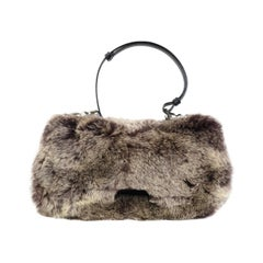 John Galliano Christian Dior Rabbit Fur Saddle Hobo Bag (Limited Edition)