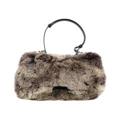 Christian Dior Rabbit Fur Saddle Hobo Bag (Limited Edition)