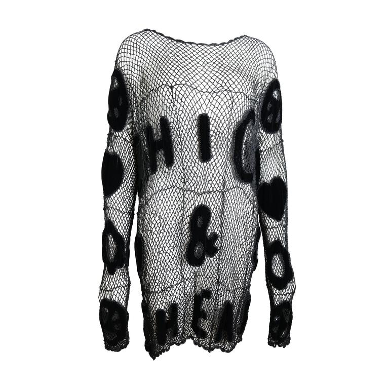 Moschino Chic and Cheap Black See Through Knitted Dress 1