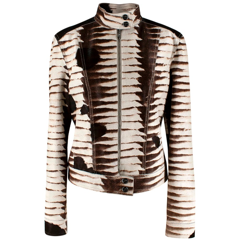 Fendi Selleria Numbered Edition Pony Hair Jacket - Size M