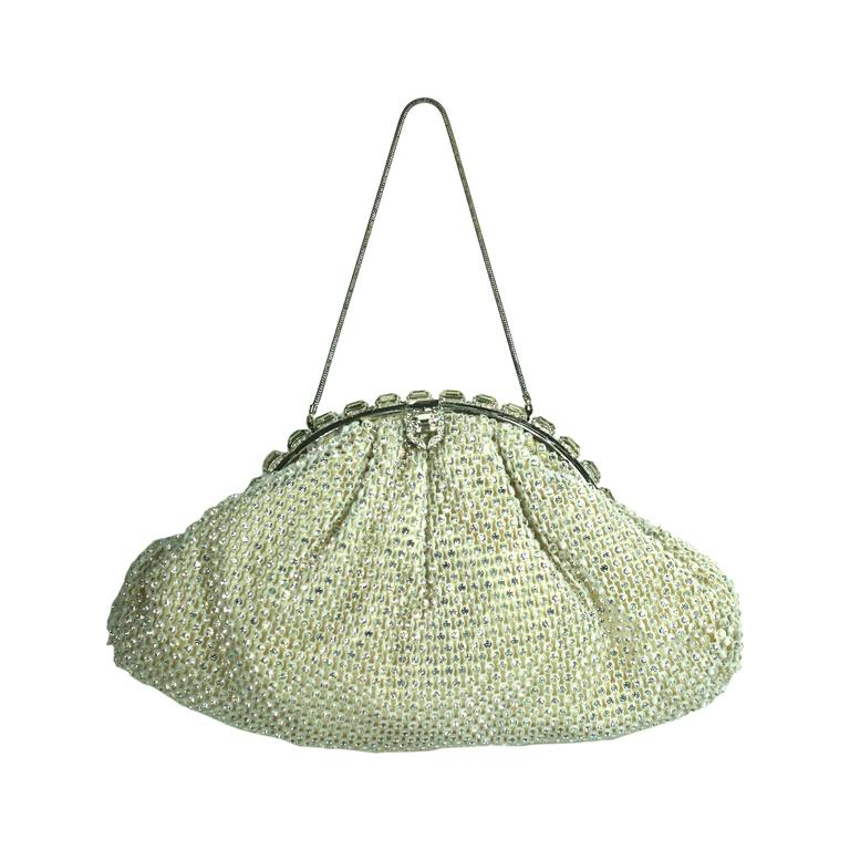 Pave Rhinestone Studded Evening Bag