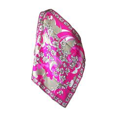 Emilio Pucci Hot Pink Floral Scarf