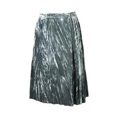 Yves Saint Laurent Crushed Panne Velvet Mini Kilt