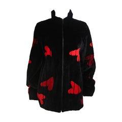 ZUKI Onyx Sheared beaver 'HEARTS' Jacket Made to Order