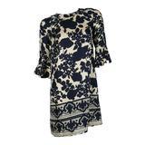 Chloe Floral Silk Print Dress