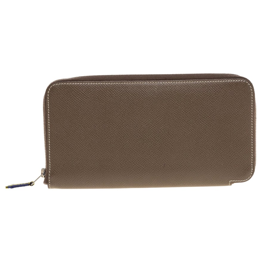 Hermes Etoupe Epsom Leather Azap Classic Wallet