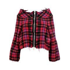Comme des Garcons tricot Pink Checked Cropped Jacket c.1994