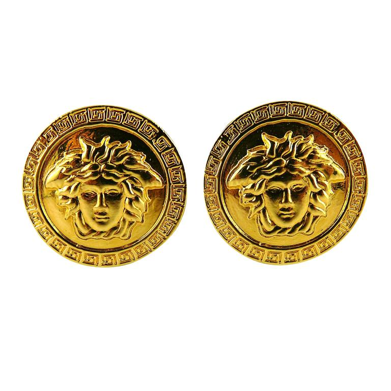Gianni Versace Vintage Unworn Medusa Clip-On Earrings 1