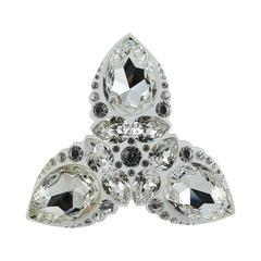 Christian Dior Massive Lucite and Crystal Brooch