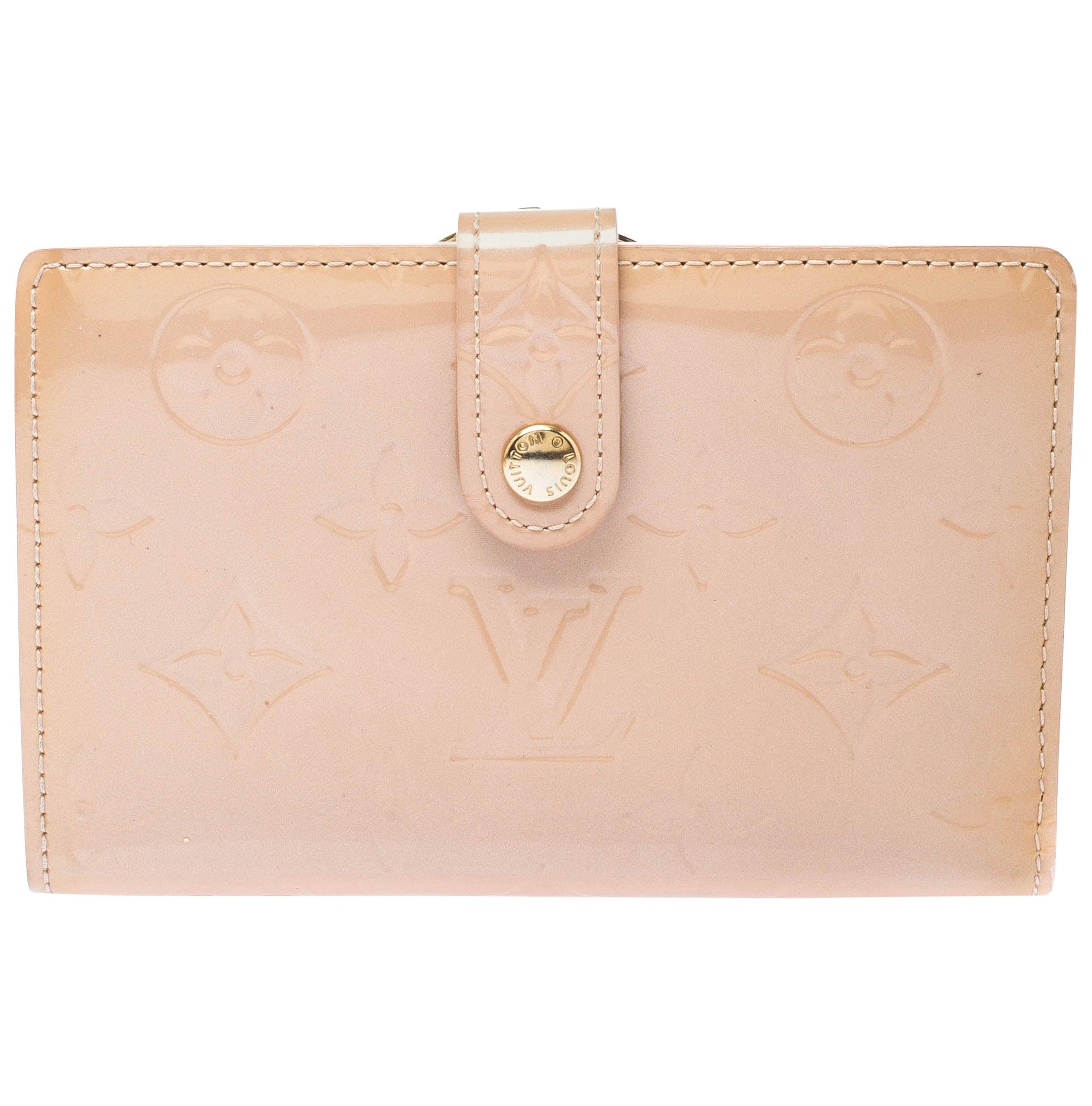 Louis Vuitton Rose Florentine Monogram Vernis French Wallet