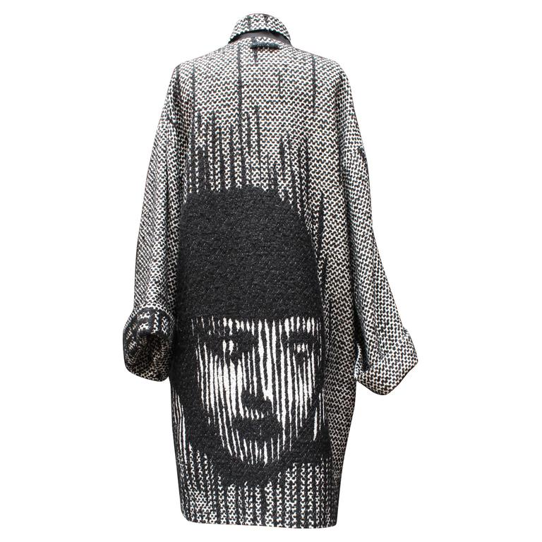 Fall 2013 Jean Paul Gaultier Black and White Coat For Sale