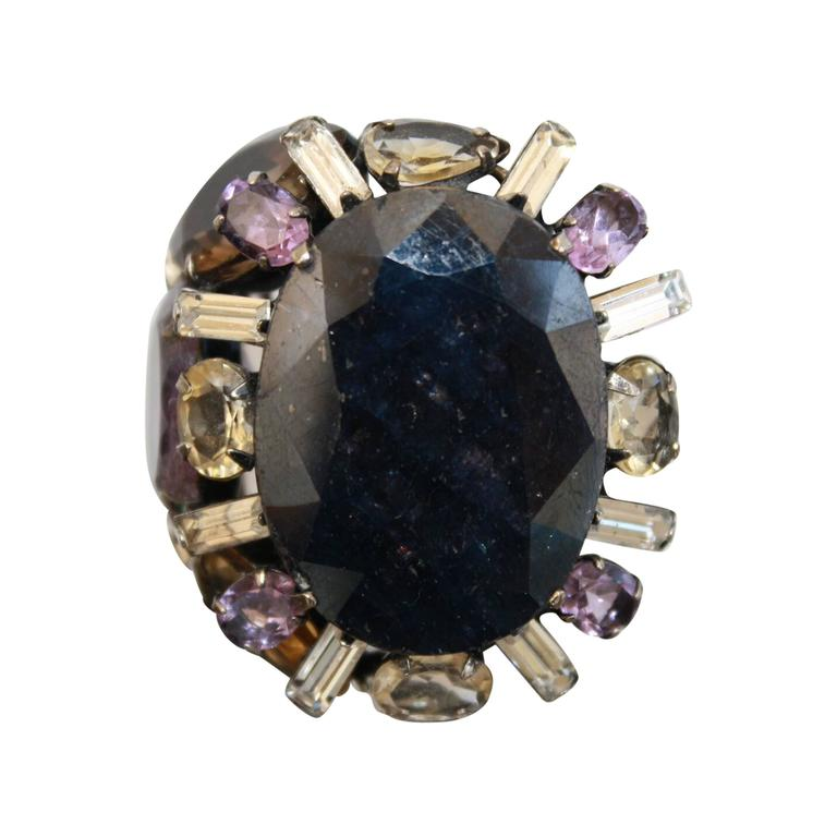 Iradj Moini Amethyst, Sapphire and Quartz Adjustable Ring 1