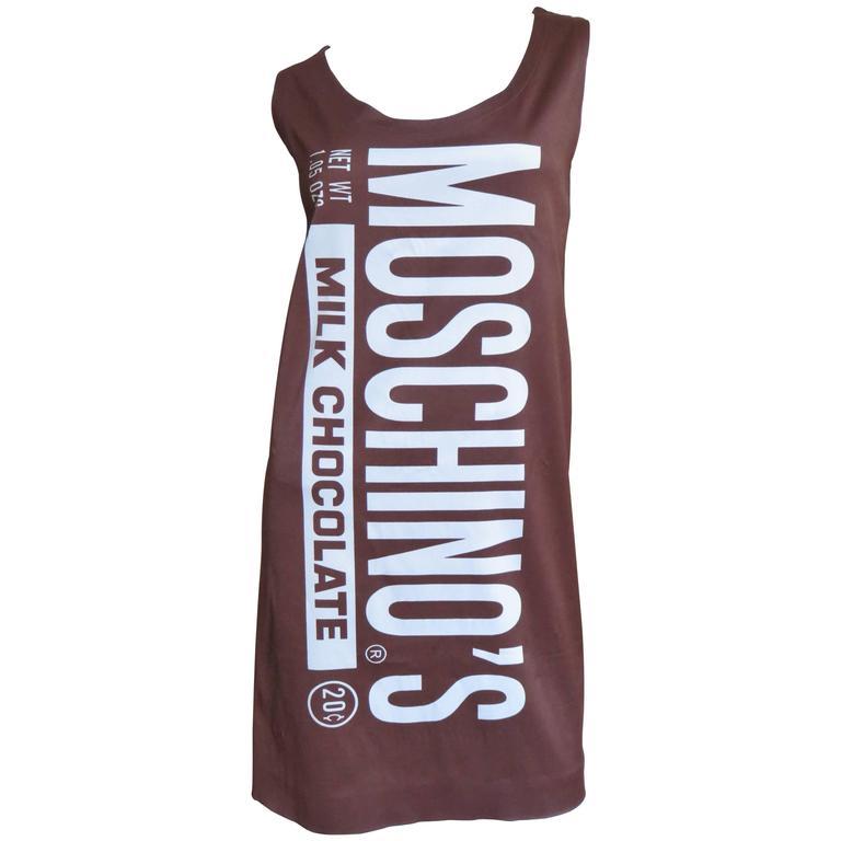 Fabulous Jeremy Scott Moschino Chocolate Bar Dress 1