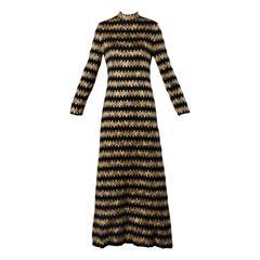 Ole Borden for Rembrandt Vintage 1970s Heavy Woven Maxi Dress