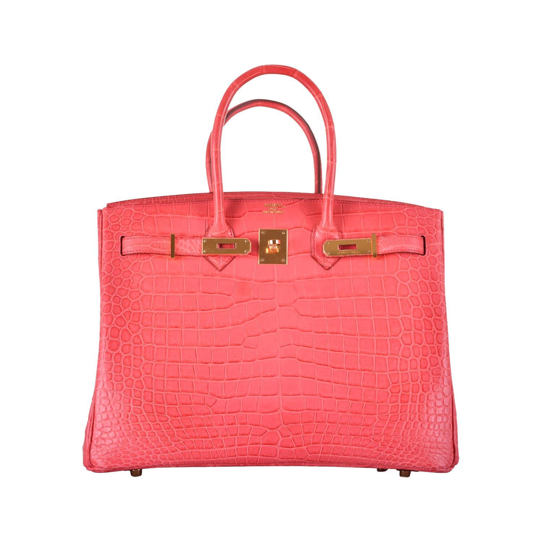 8c2249ed91 Hermes Birkin Bag Ostrich 35cm Pink Matte Palladium