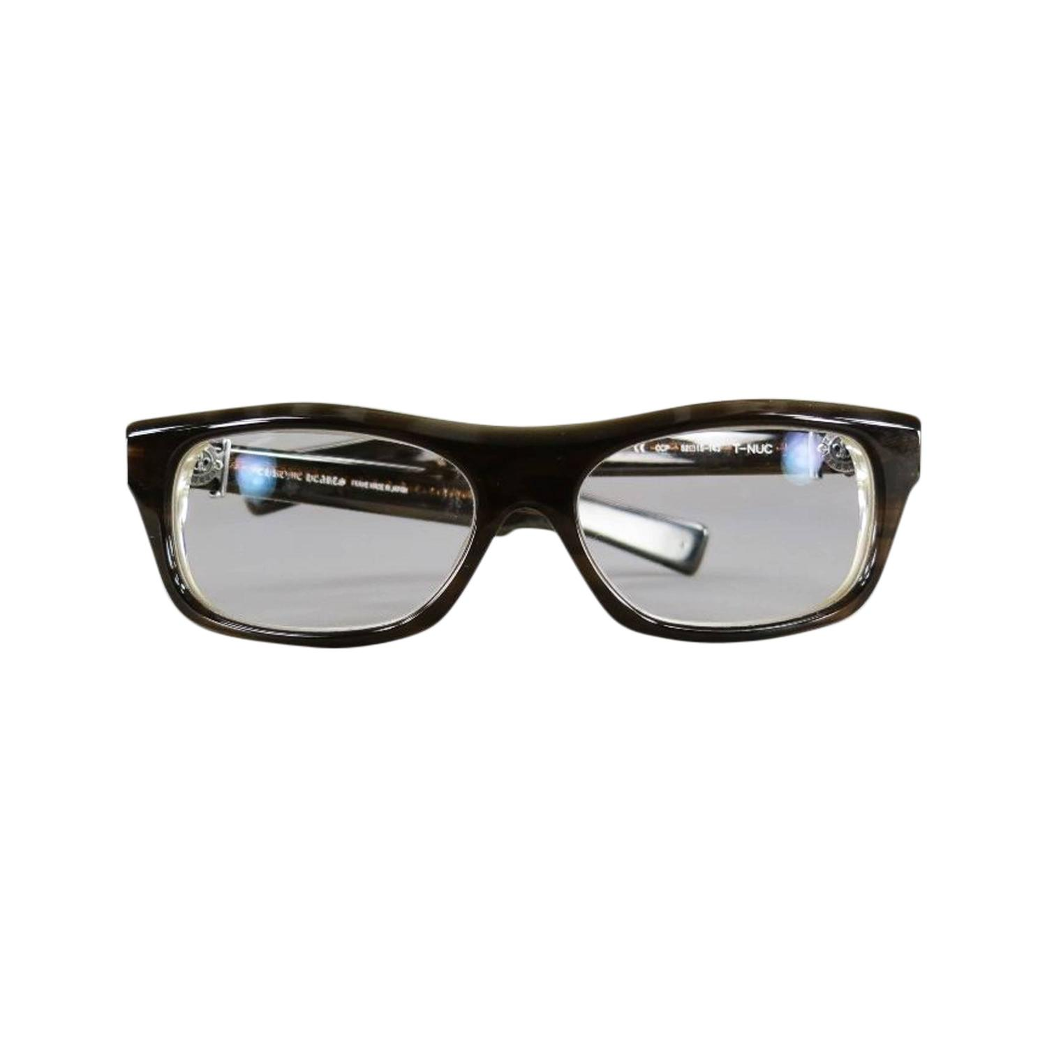 chrome hearts brown acetate sterling silver frames t nuc