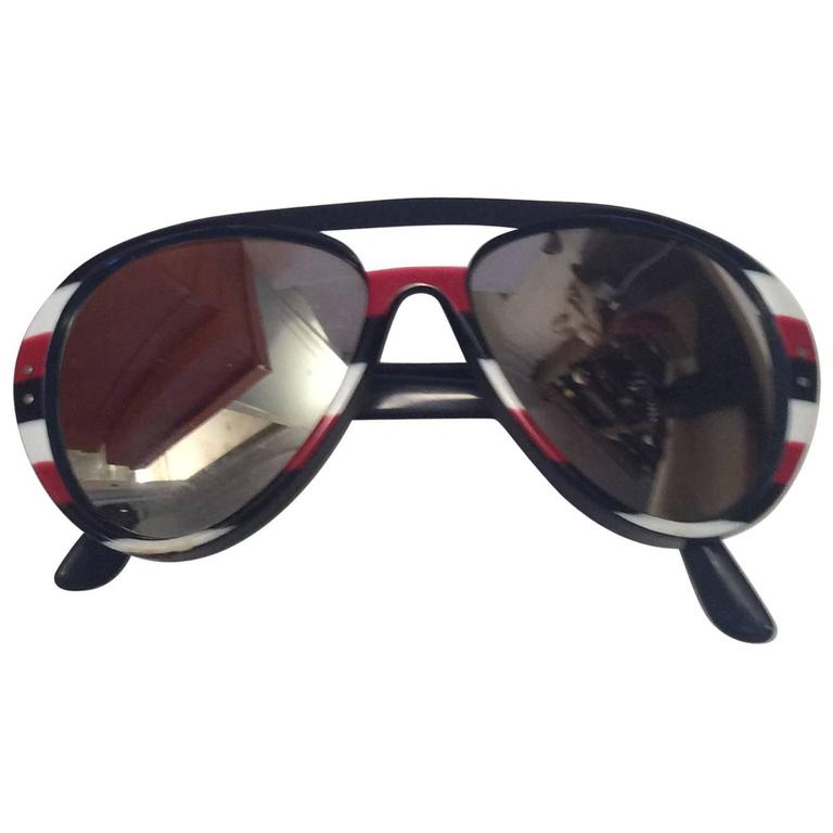1970's Original Red, White, and Blue Mirrored Sunglasses