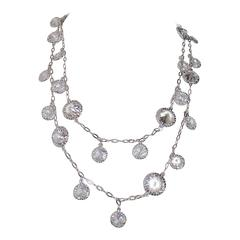 Cubic Zirconia Diamond by the Yard Drop Necklace