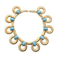 Mimi Di N Turquoise Glass Collar