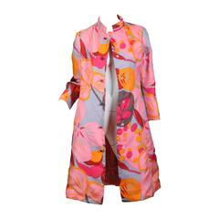 1960s Bill Blass Floral Coat