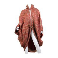 Victorian Paisley Cocoon Coat