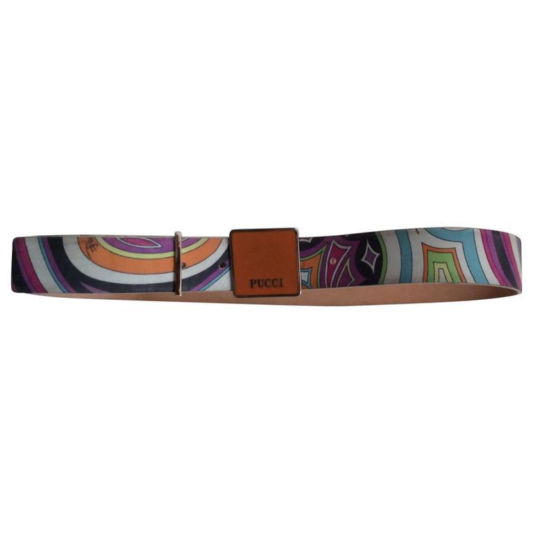 Emilio Pucci Leather Enamel Belt - Size 75