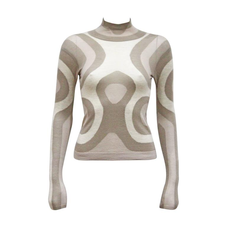 Alexander McQueen cashmere contoured fitted sweater, c. 2004  1