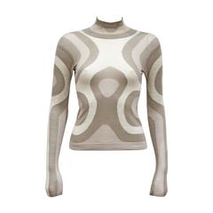 Alexander McQueen cashmere contoured fitted sweater, c. 2004
