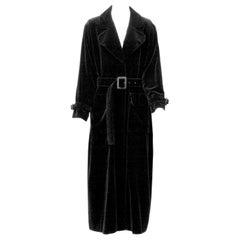 Yves Saint Laurent Long Velvet Coat