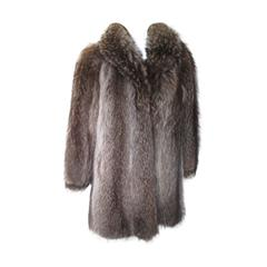 Raccoon Three-Quarter Length Fur Coat