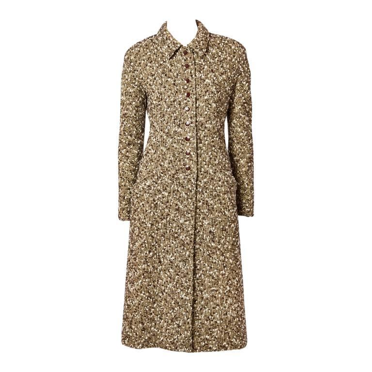 Valentino Fitted Tweed Coat For Sale