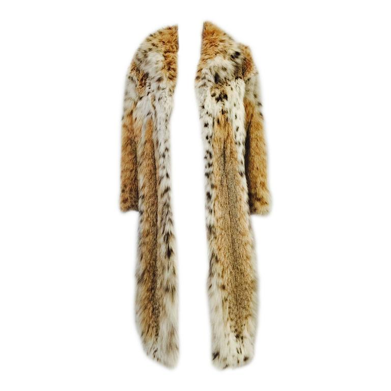 Luxurious Full-Length Natural Lynx Coat  For Sale