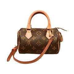 Louis Vuitton Nano Speedy Monogram Shoulder Bag