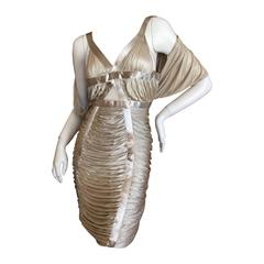 Yves Saint Laurent by Tom Ford Silver Dress Spring 2003