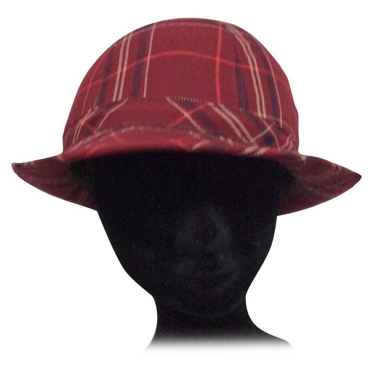 Plaid 1970's Hat For Sale