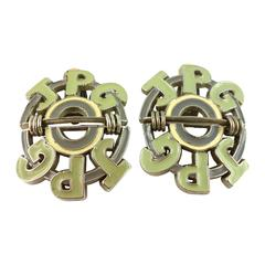 Jean Paul Gaultier Vintage Oversized Signature Clip-On Earrings