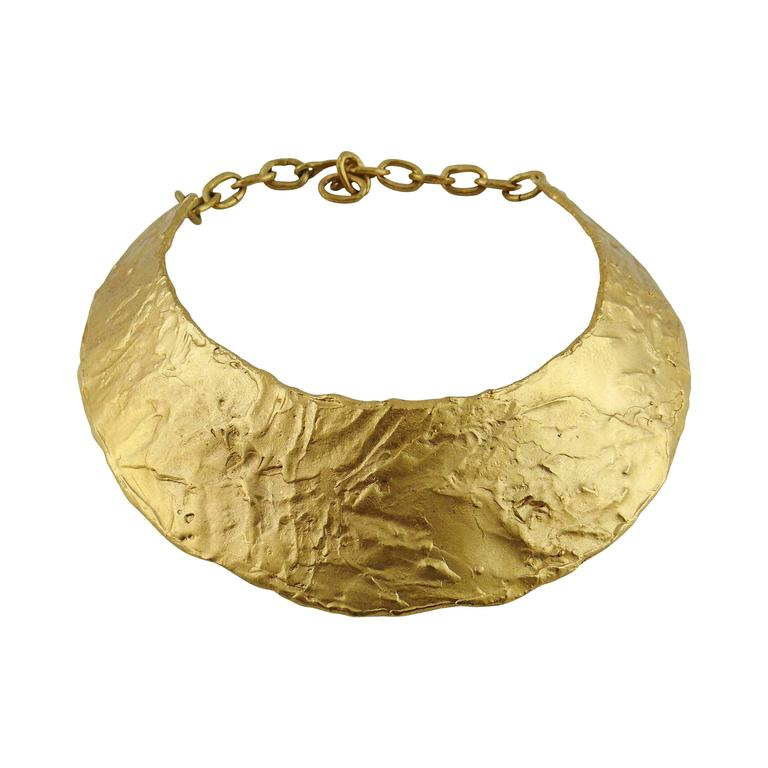 Biche de Bere Paris Vintage Brutalist Collar Necklace For Sale