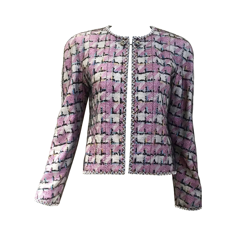 Chanel Pink and Blue Embellished Jacket