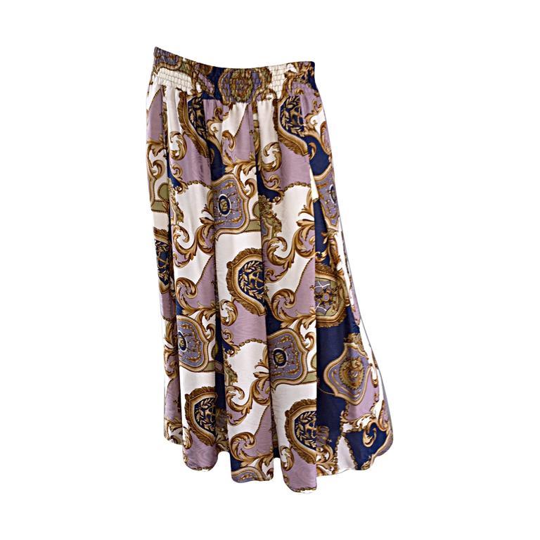Vintage Diane Freis Nautical Crest ' Anchor ' Maxi Skirt or Dress