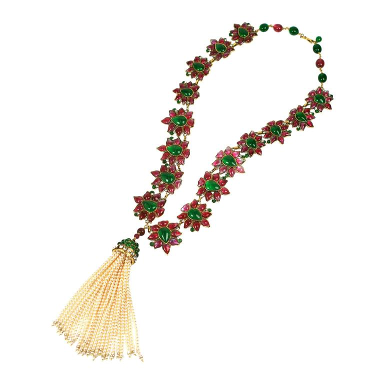Massive and Important Moghul Style Necklace by Maison Gripoix For Chanel 1