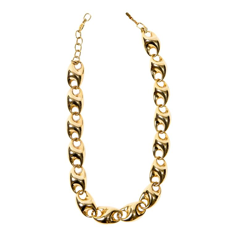 Christian Dior Gold Tone Necklace For Sale