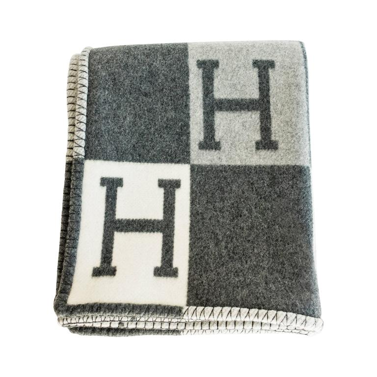 Hermes Avalon Tricolore Wool Cashmere Throw Blanket At 1stdibs