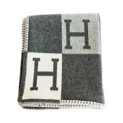 Hermes Avalon Tricolore Wool Cashmere Throw Blanket