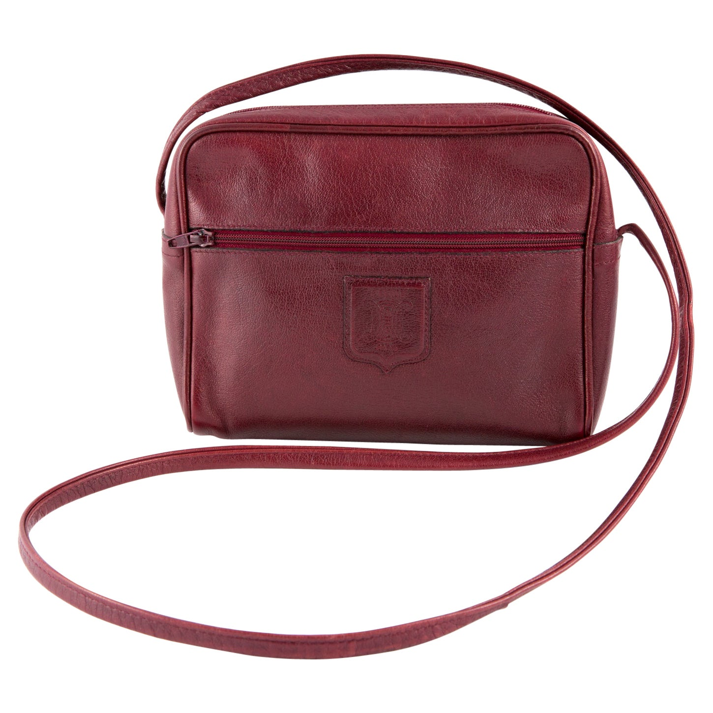 1970s Bordeaux Celine Leather Shoulder Bag