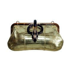 Reduced Price & Free Shipping Tom Ford Gucci 2004 Python & Crystal Runway Bag!