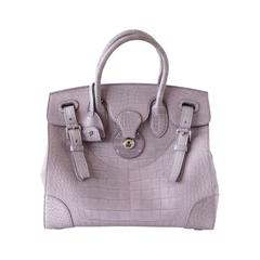 RALPH LAUREN Bag Rare Dusty Lavender Ricky Matte Alligator new