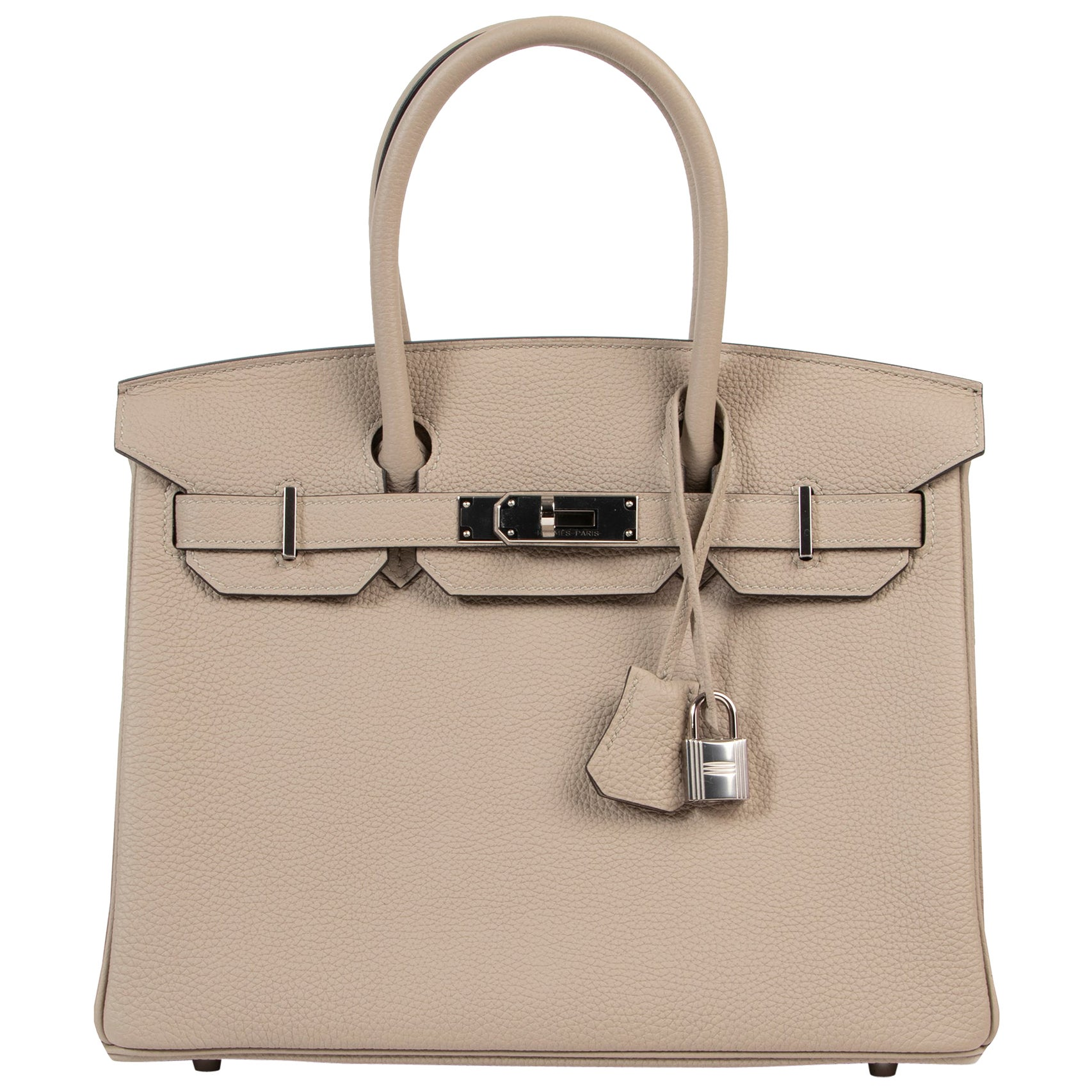 As New Hermes Birkin 30 Gris Tourterelle Togo PHW