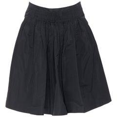 vintage MIU MIU polyester acetate pleated dual slit pocket flared skirt IT40