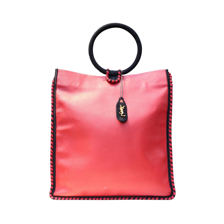 ysl red leather handbag